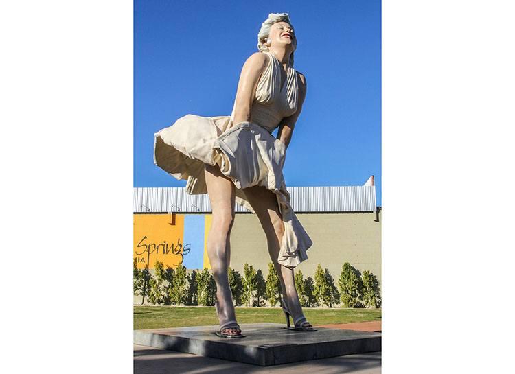 Forever Marilyn Palm Springs ciekawostki atrakcje Kalifornia