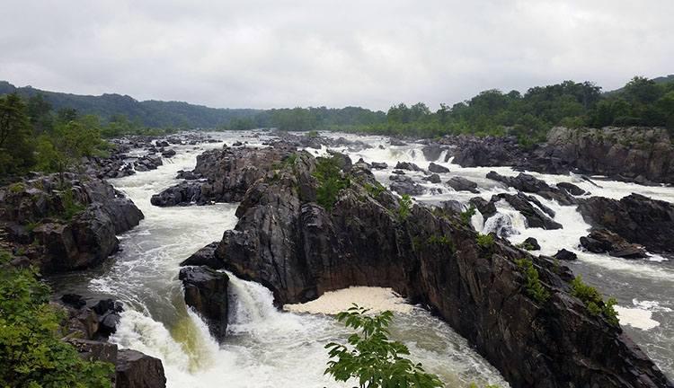 Great Falls Park Wirginia ciekawostki stan USA