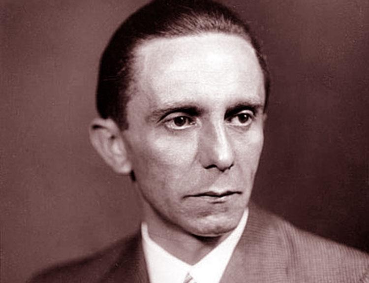 Joseph Goebbels cytaty propaganda goebbelsowska Trzecia Rzesza zbrodniarz wojenny