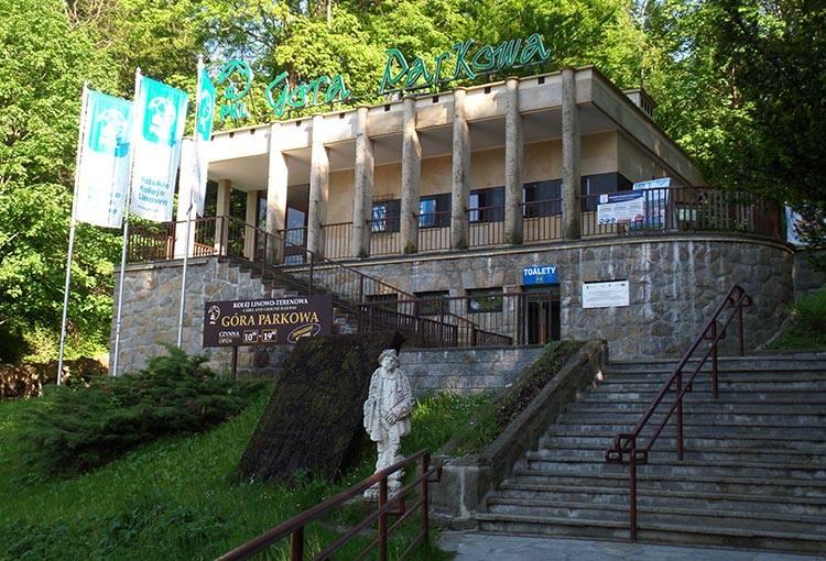 dolna stacja kolejki Góra Parkowa Krynica-Zdrój ciekawostki atrakcje