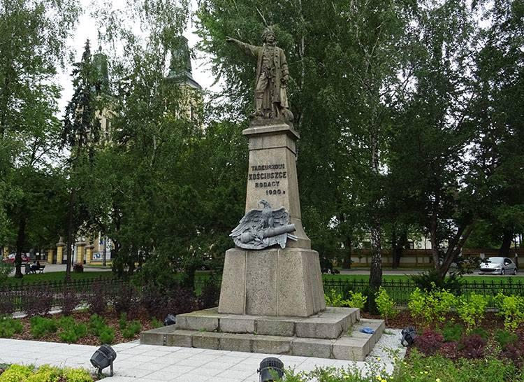 Tadeusz Kościuszko pomnik Radzymin ciekawostki atrakcje