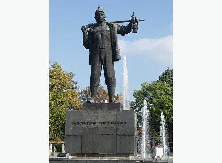 pomnik Wincenty Pstrowski Zabrze ciekawostki atrakcje zabytki