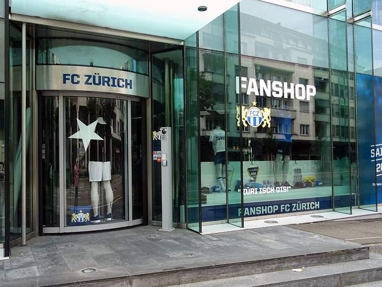F.C. Zurich fanshop Zurych Szwajcaria ciekawostki piłka nożna sport