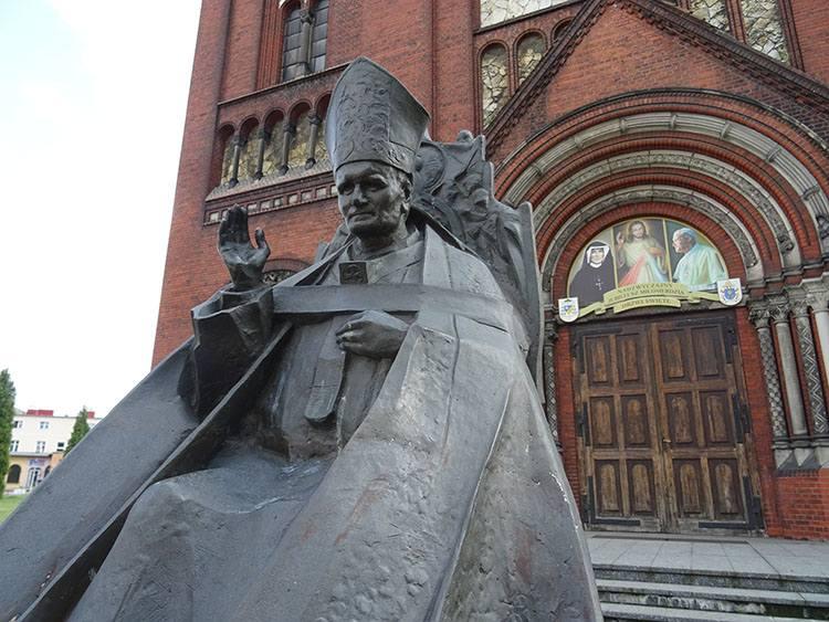 Jan Paweł II pomnik Czeladź ciekawostki zabytki atrakcje
