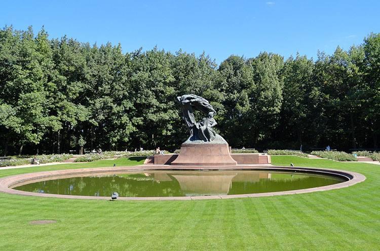 Fryderyk Chopin pomnik Łazienki Królewskie Warszawa parki ciekawostki