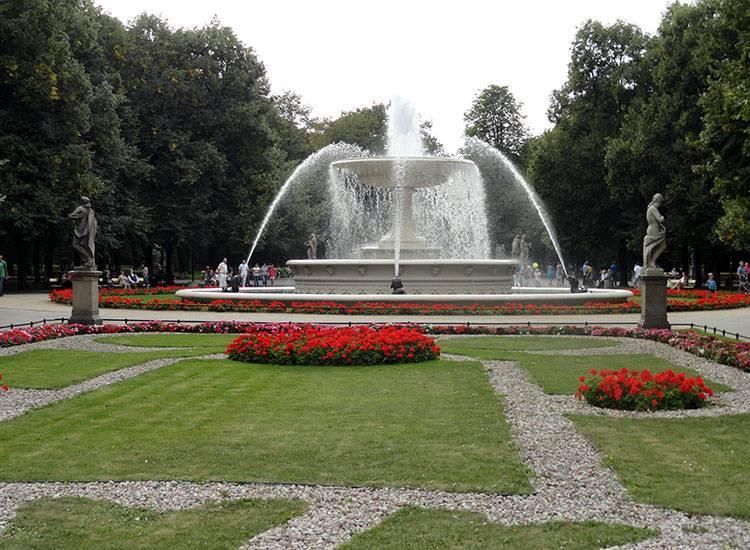 Ogród Saski Warszawa parki ciekawostki
