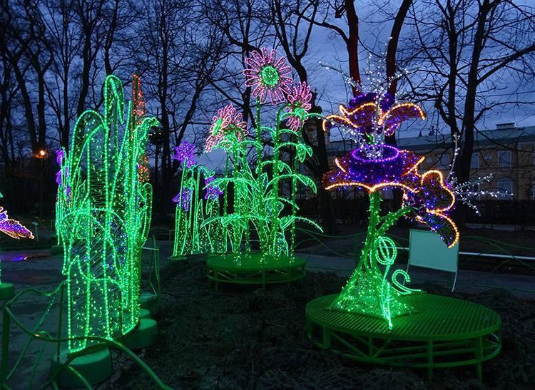 iluminacje Wilanów Warszawa parki ciekawostki park stolica