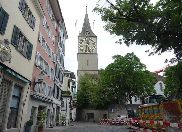 Sankt Peterkirche Zurych ciekawostki atrakcje Szwajcaria