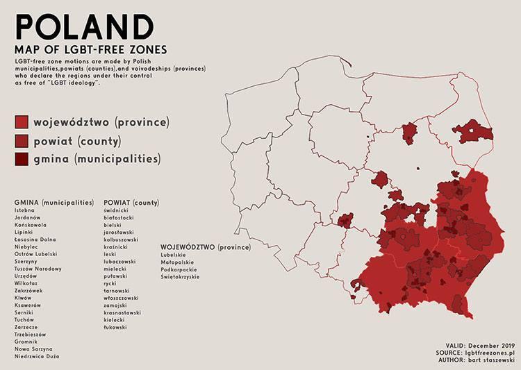 strefy wolne od LGBT free-zones Polska Poland ciekawostki