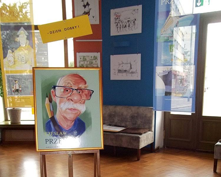 Czeslaw Przęzak wystawa Wrocław rysunek satyryczny