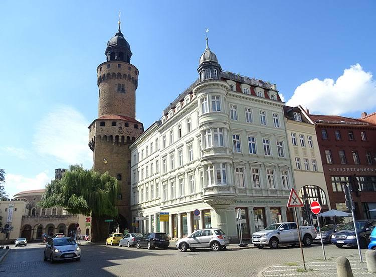 Reichenbach wieża miasto Goerlitz Niemcy ciekawostki zabytki atrakcje
