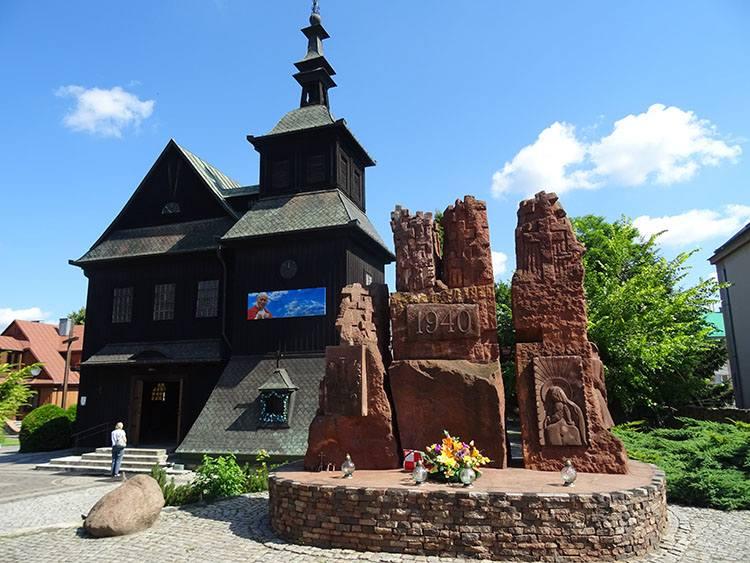 kościół drewniany Ostrowiec Świętokrzyski ciekawostki atrakcje zabytki