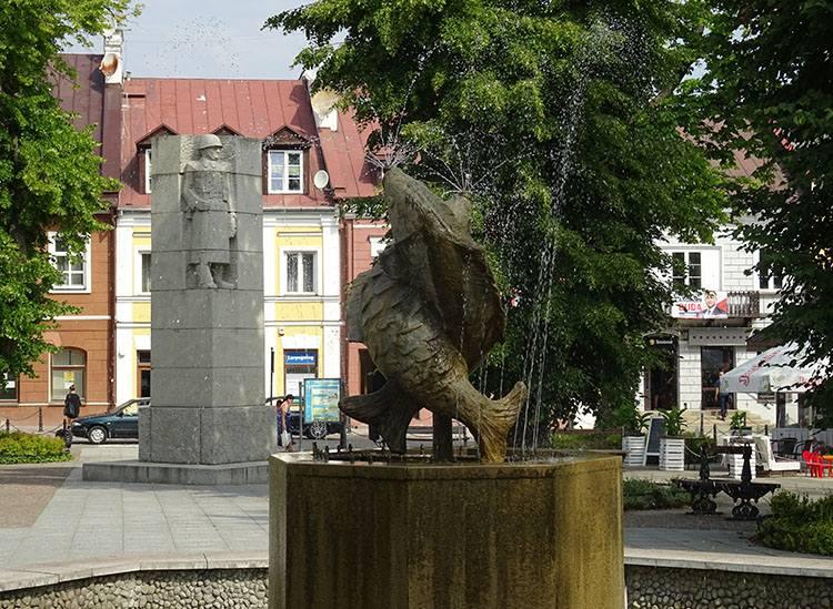 rynek pomnik fontanna Krasnystaw ciekawostki atrakcje zabytki