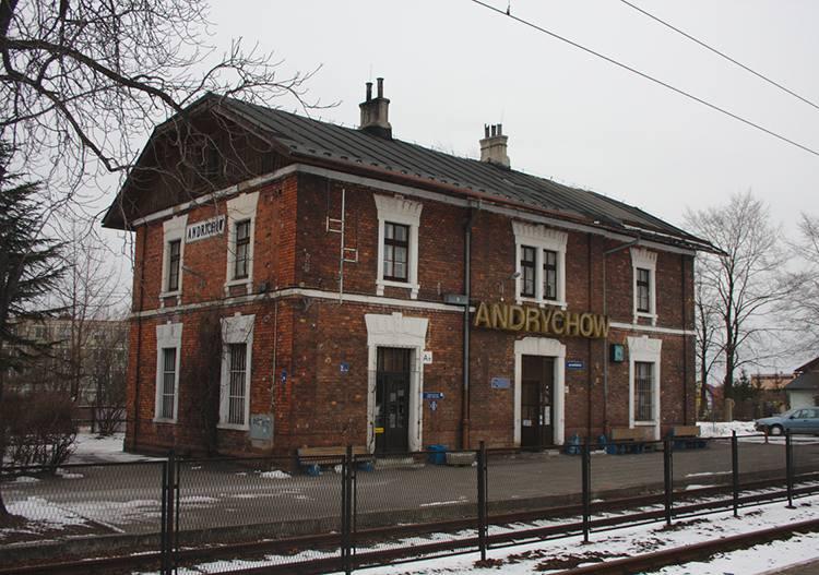stacja kolejowa Andrychów gmina miasto ciekawostki atrakcje zabytki