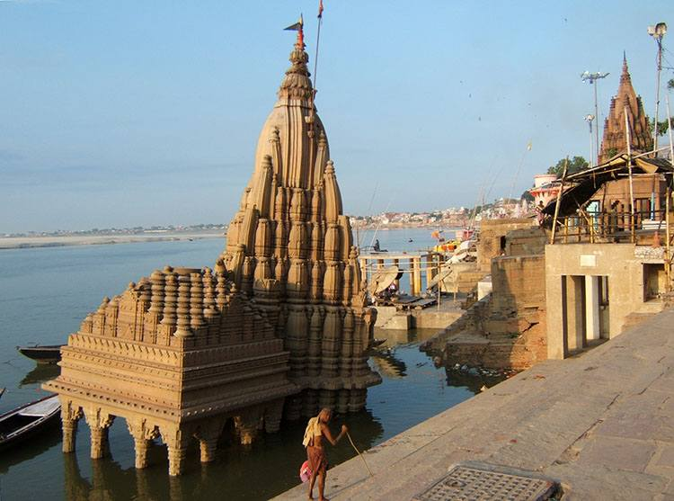 Manikarnika ghat Waranasi Uttar Pradesh Indie ciekawostki