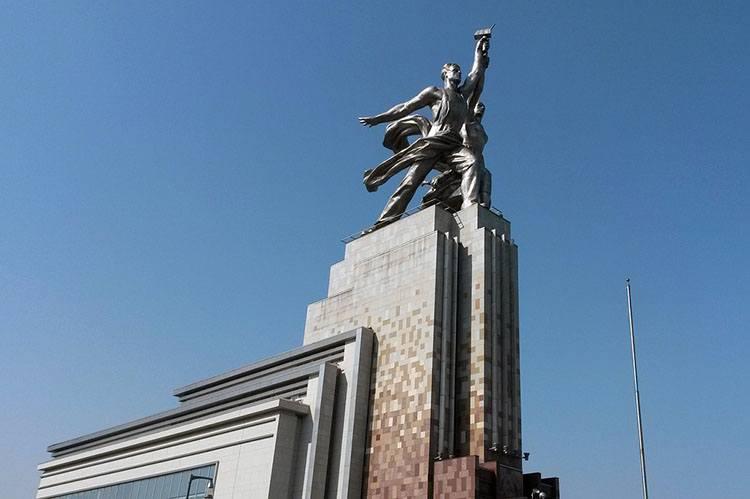 robotnik kołchoźnica pomnik Moskwa Mosfilm ciekawostki