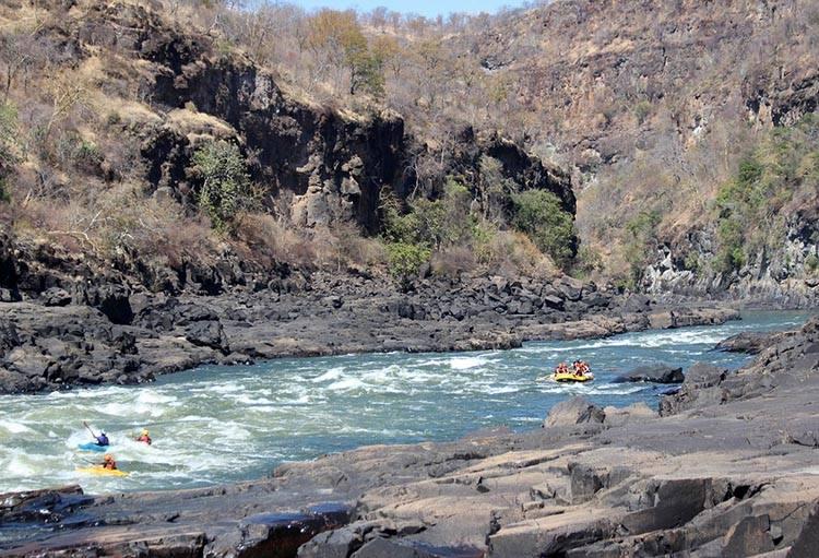 rzeka Zambezi Zambia ciekawostki informacje Afryka atrakcje