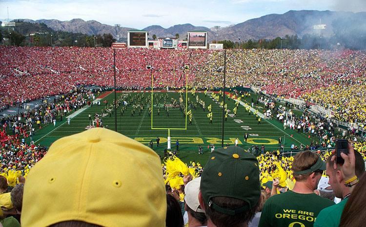 stadion Rose Bowl Pasadena Kalifornia USA największe stadiony świata piłka nożna