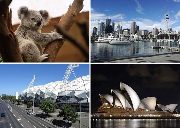 Australia Oceania ciekawostki informacje państwa miasta