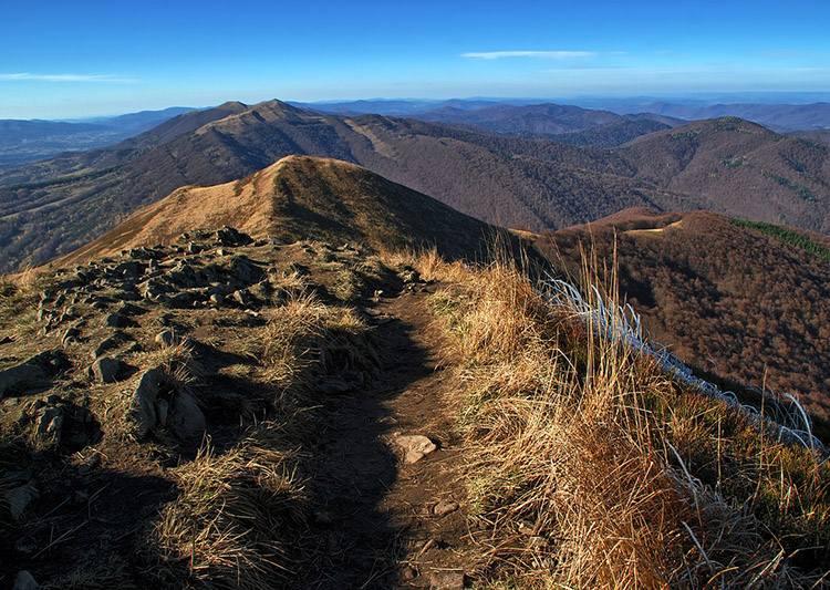 Bieszczady szlaki polskie góry wędrówki