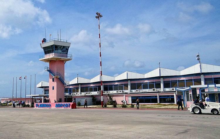 Bonaire Flamingo Holandia lotniska samoloty lotnisko Netherlands Holland