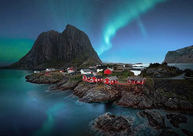 Lofoty zorza polarna Norwegia ciekawostki
