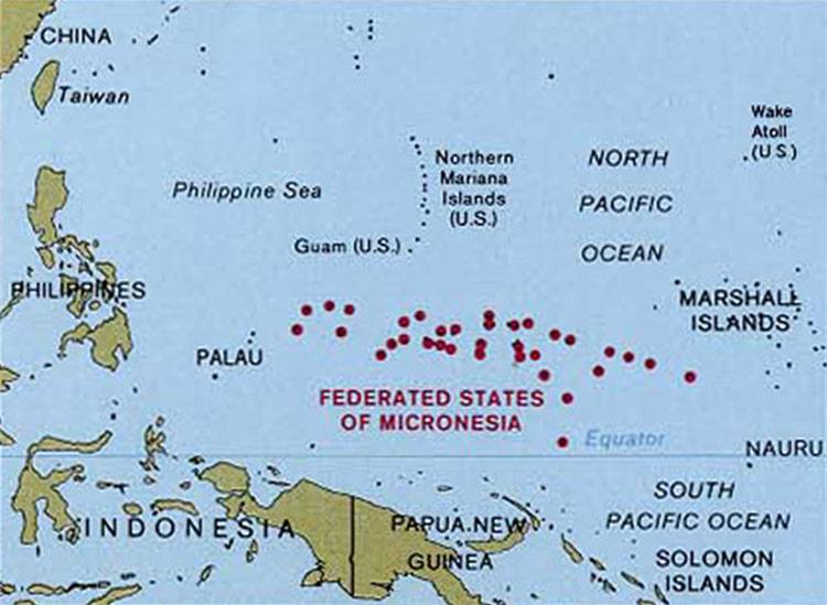Mikronezja państwo wyspy ciekawostki mapa informacje