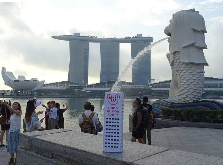 Singapur Singapore Marina Bay Merlion podróże po świecie świat globtroter wycieczka