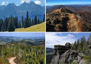 Bieszczady szlaki polskie góry wędrówki piesze