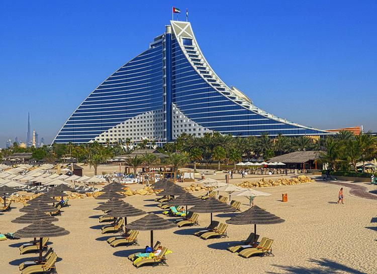 hotel plaża Dubaj ciekawostki Zjednoczone Emiraty Arabskie