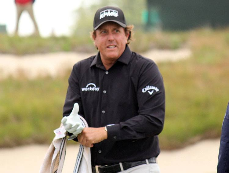 Phil Mickelson znani golfiści gra golf gracze zawodnicy