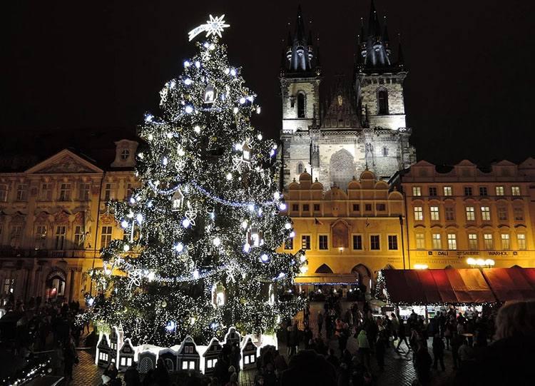 Praga Czechy ciekawostki choinka święta Bożego Narodzenia