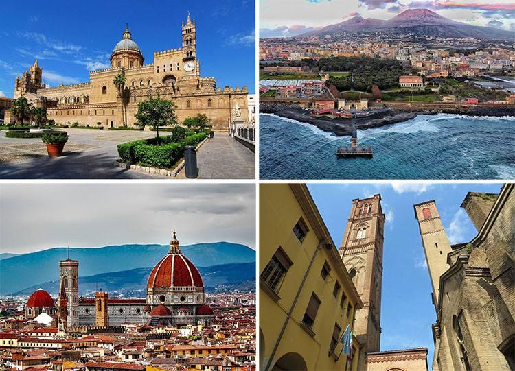 Włochy największe miasta Włoch Italia