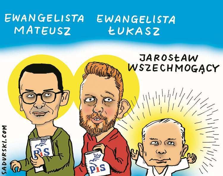 czerwiec satyra rysunek satyryczny Morawiecki Kaczyński satyryk rysownik dowcipy