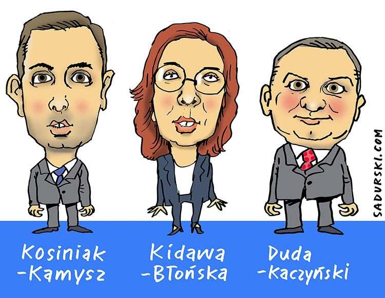 marzec 2020 Kosiniak-Kamysz Kidawa Błońska Duda Kaczyński wybory prezydenckie kopertowe