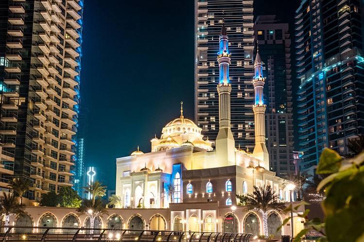 meczet Dubaj ciekawostki Zjednoczone Emiraty Arabskie