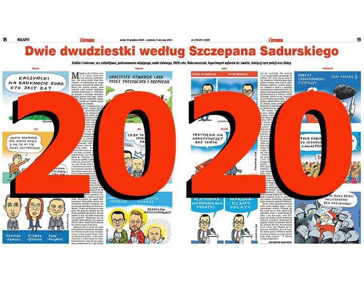 satyryczne podsumowanie roku 2020 rok satyra rysunki Szczepan Sadurski komentarze