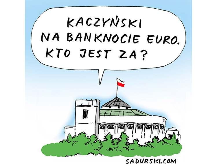 styczeń2020 Sejm PiS posłowie Jarosław Kaczyński euro satyra polityczna Sadurski polityka