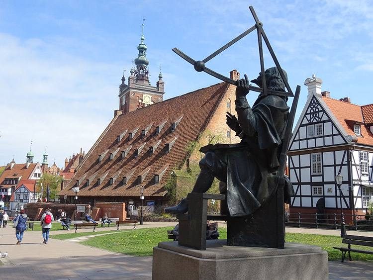 Jan Heweliusz pomnik Gdańsk