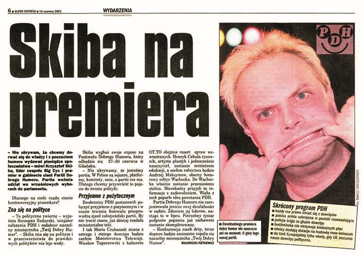 Krzysztof Skiba Partia Dobrego Humoru
