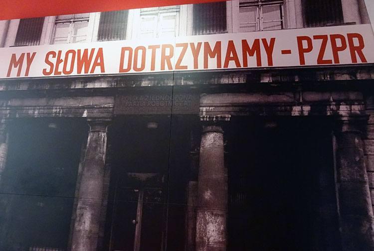 transparent PRL ciekawostki PZPR Europejskie Centrum Solidarności Gdańsk