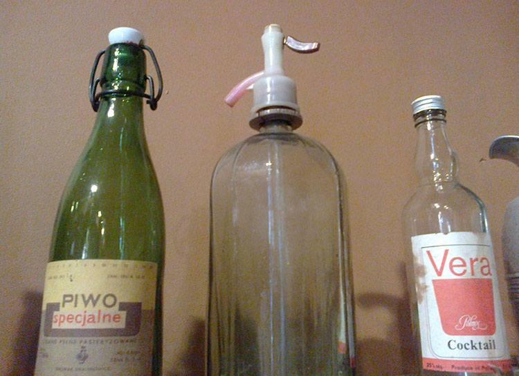 butelki PRL ciekawostki wódka syfon piwo