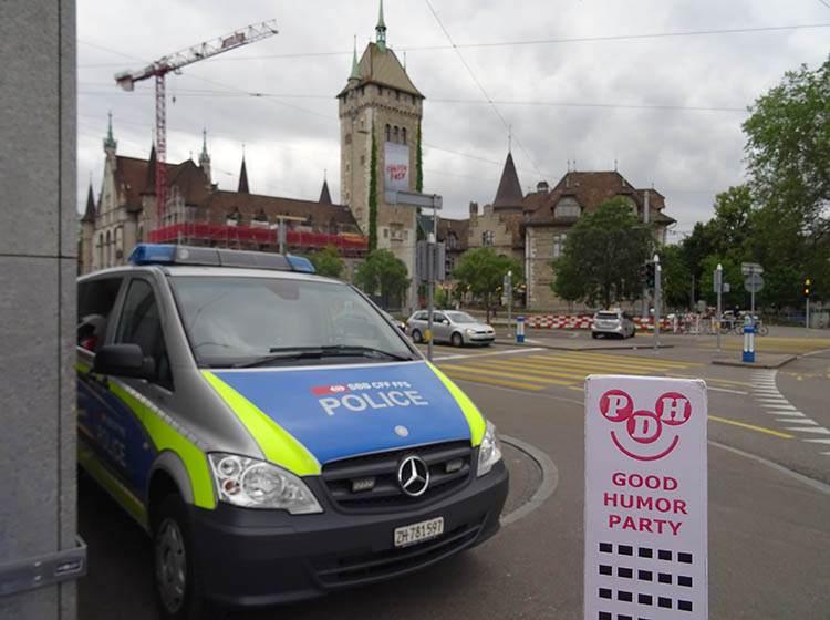 Zurych Szwajcaria samochód policyjny policji
