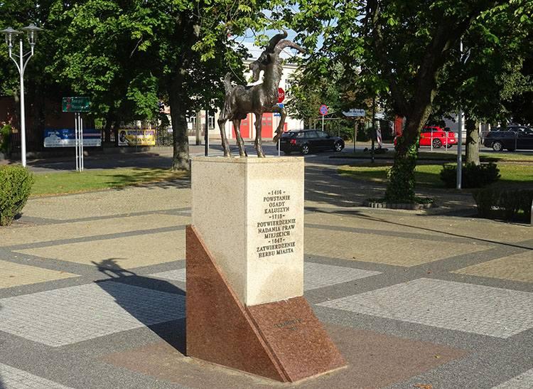 miasto Kałuszyn pomnik koziołek ciekawostki