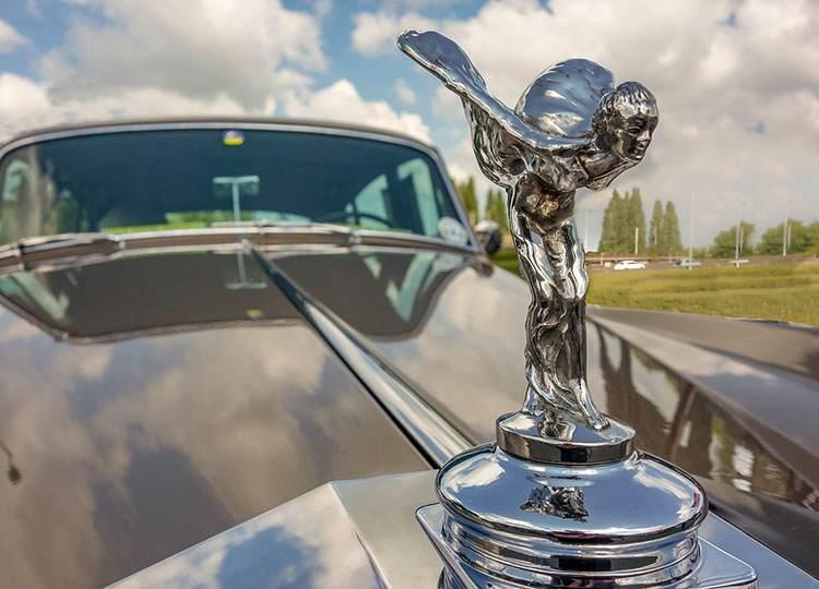 historia statuetka logo Rolls Royce samochody limuzyny