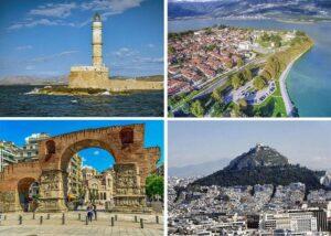 Grecja największe miasta atrakcje zabytki wakacje