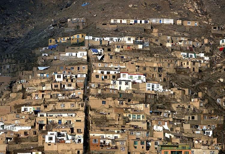 budynki zbocze góry Afganistan ciekawostki