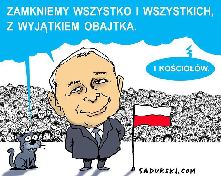 komentarze satyryczne polityczne polityka satyra PiS Jarosław Kaczyński