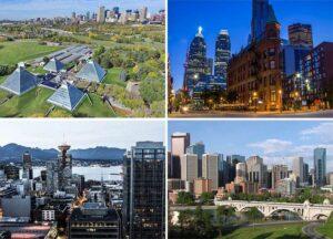 państwo Kanada miasta Kanady Ameryka Północna budynki wieżowce