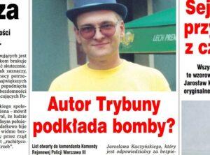 bomby bomber polski satyryk żarty ładunek wybuchowy policja